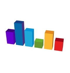 Chart Color Diagram Icon vector