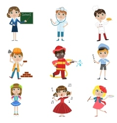 Children Future Profession Set vector
