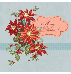 Christmas Retro Card - with place for your text vector