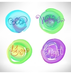 circles abstract watercolor splash design elements vector image