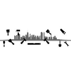 City Tools for Repair vector image