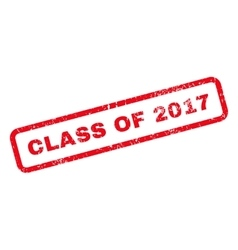Class Of 2017 Text Rubber Stamp vector image