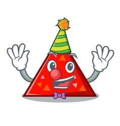 Clown triangel mascot cartoon style vector