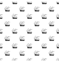 Columbus ship pattern simple style vector image