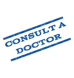 Consult a Doctor Watermark Stamp vector