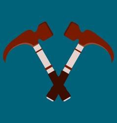 Crossed hammers Suitable for advertising vector