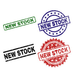 damaged textured new stock seal stamps vector image