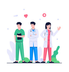 doctor medical health concept flat vector image