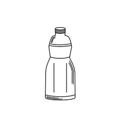 Drinks plastic bottle freshness liquid line style vector