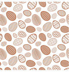 easter egg seamless pattern chocolate brown color vector image