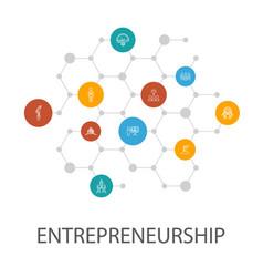 Entrepreneurship presentation template cover vector