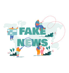Fake news info fabrication gossips concept vector