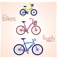 Family bikes vector