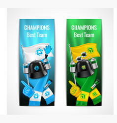 Fan sport banners set vector