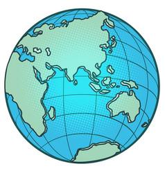 globe eastern hemisphere africa europe asia vector image