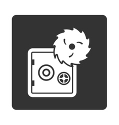 Hacking theft icon vector