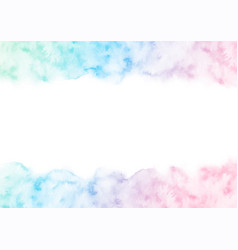 hand painted colorful watercolor texture frame vector image