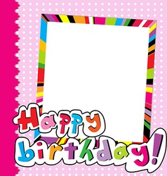 Happy Birthday scrapbook for baby girl vector image
