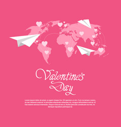 Happy valentines day love holiday concept paper vector