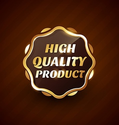 high quality product golden label design vector image