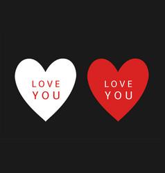 i love you heart symbols vector image