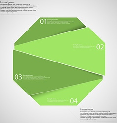 Infographic template with green octagon randomly vector image