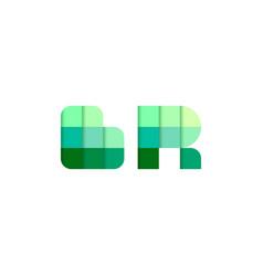 initial letters br b r pixel brick logo design vector image