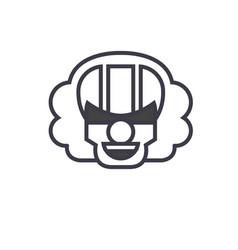 killer clown emoji concept line editable vector image