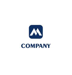 Letter m alphabetic logo design template simple vector