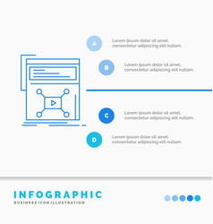marketing page video web website infographics vector image