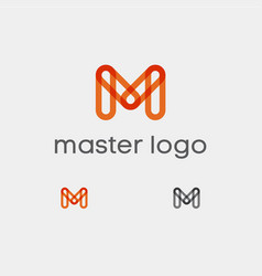 Master logo oramge m transparent vector