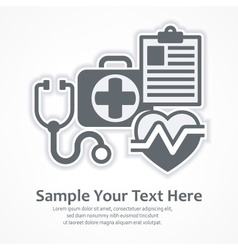 Medicine diagnosis symbols vector image