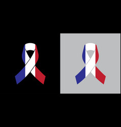 Mock up france mourning symbol with french flag vector
