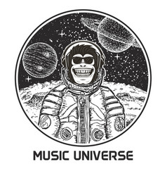 Music universe modern t-shirt design vector