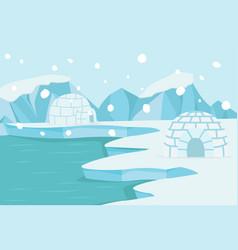 north pole arctic landscape vector image
