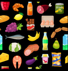 pattern with food vector image