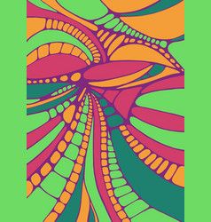 Psychedelic colorful surreal doodle pattern vector