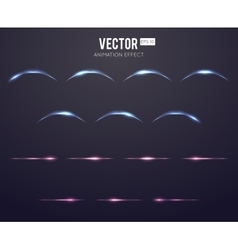 Realistic light effect lens flare animation frames vector