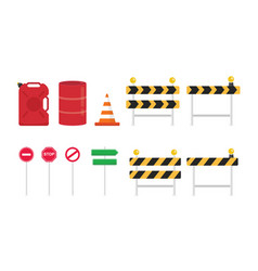 Road sign set collection with various shape and vector