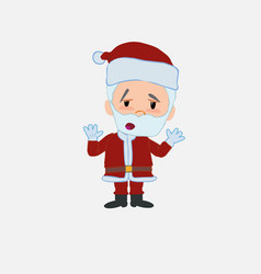Santa claus makes a gesture of tired resignation vector