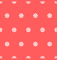 seamless pattern snowflakes vector image