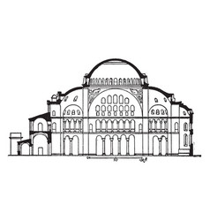 Section of hagia sophia former patriarchal vector