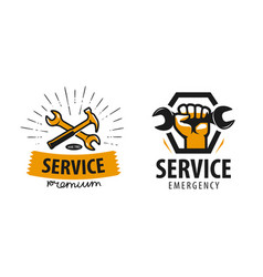 Service workshop logo or label repair icon vector