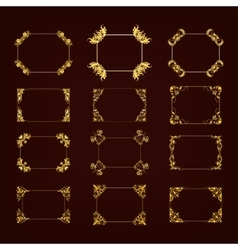 Set of decorative hand drawn frame vector image
