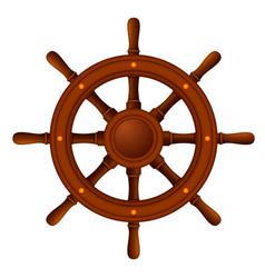 Ship wheel marine wooden vector