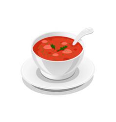 soup delicious tasty symbol vector image