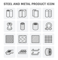 Steel and metal vector