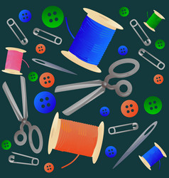 tailoring and hobby seamless pattern vector image