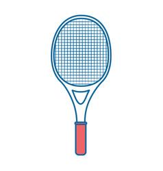 Tennis racket icon vector
