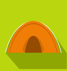 tent icon flat style vector image